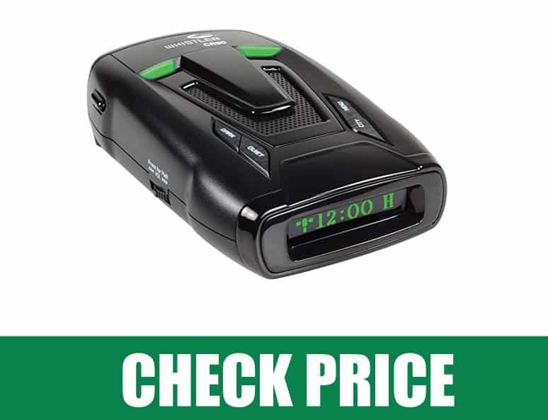 Whistler CR90 (Best  360 Degree Protection, Voice Alerts  Radar Detector )